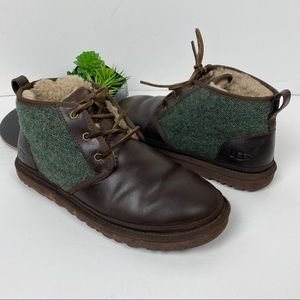 Mens UGG Neumel Leather & Tweed Ankle boot 11